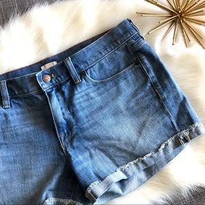 J. Crew Cutoff Denim Shorts Style B8845